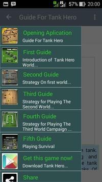 Guide For Tank Hero apk screenshot