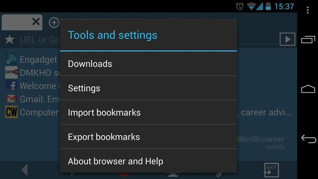 MiniBrowser BETA apk screenshot