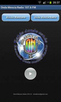 Onda Mencía Radio poster