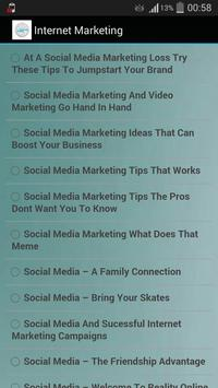 Internet Marketing apk screenshot