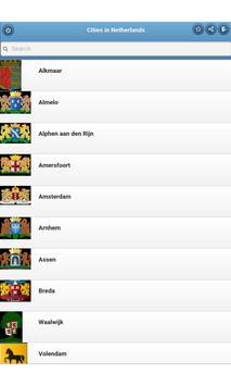 Cities in Netherlands apk screenshot