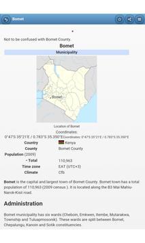 Cities in Kenya apk screenshot