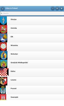Cities in Poland apk screenshot