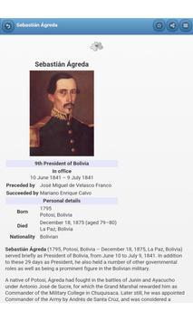 The presidents of Bolivia apk screenshot