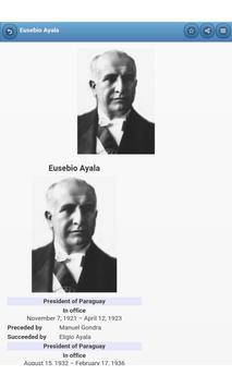Presidents of Paraguay apk screenshot