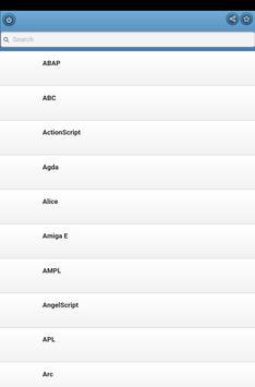 Programming languages apk screenshot