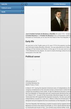 The presidents of Venezuela apk screenshot