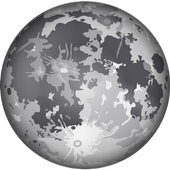 Surface of the moon icon