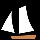 Sailing ships icon