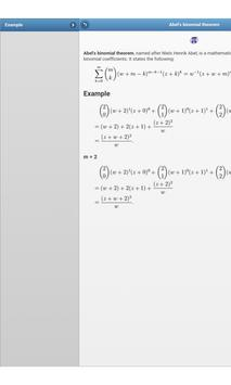 Mathematical theorems apk screenshot