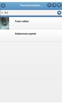 Thermal insulation materials apk screenshot