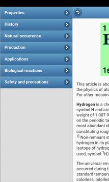 Chemical elements apk screenshot