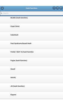Hash functions apk screenshot
