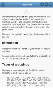 Integer sequences apk screenshot