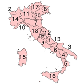 Provinces of Italy icon