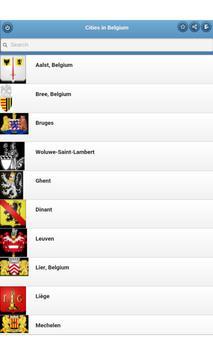 Cities in Belgium apk screenshot