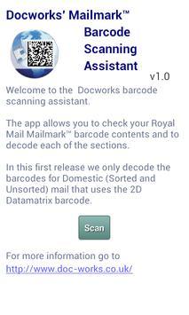 Mailmark Barcode Scan App apk screenshot