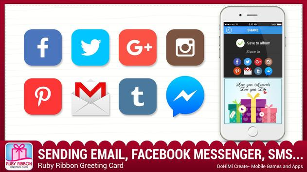 Ruby Ribbon Greeting Cards apk screenshot