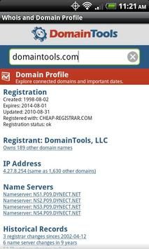 DomainTools Whois Lookup poster