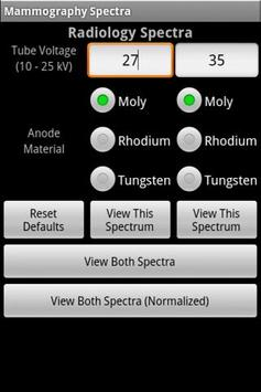 Mammography Spectra poster