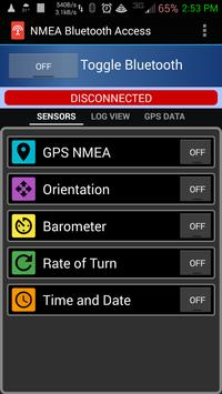 NMEA Bluetooth Access apk screenshot