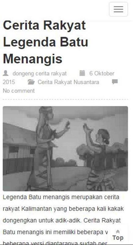 Contoh Dongeng Legenda Singkat - Contoh II