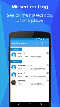 Missed call SMS to Email apk screenshot