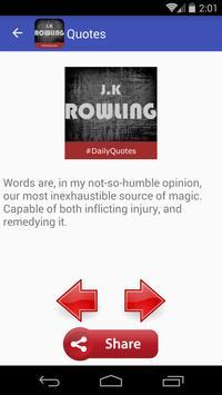 J K Rowling Quotes apk screenshot
