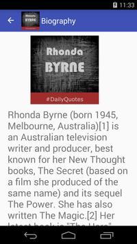 Rhonda Byrne Quotes apk screenshot