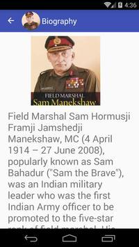 Sam Manekshaw Quotes apk screenshot