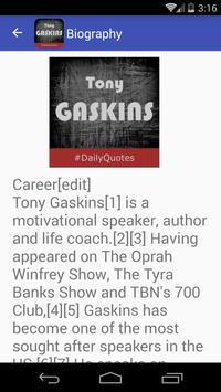 Tony Gaskins Quotes apk screenshot
