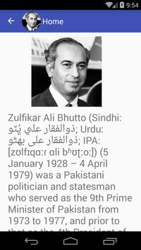 Zulfikar Ali Bhutto Quotes apk screenshot