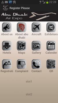 Abu Dhabi Air Expo poster