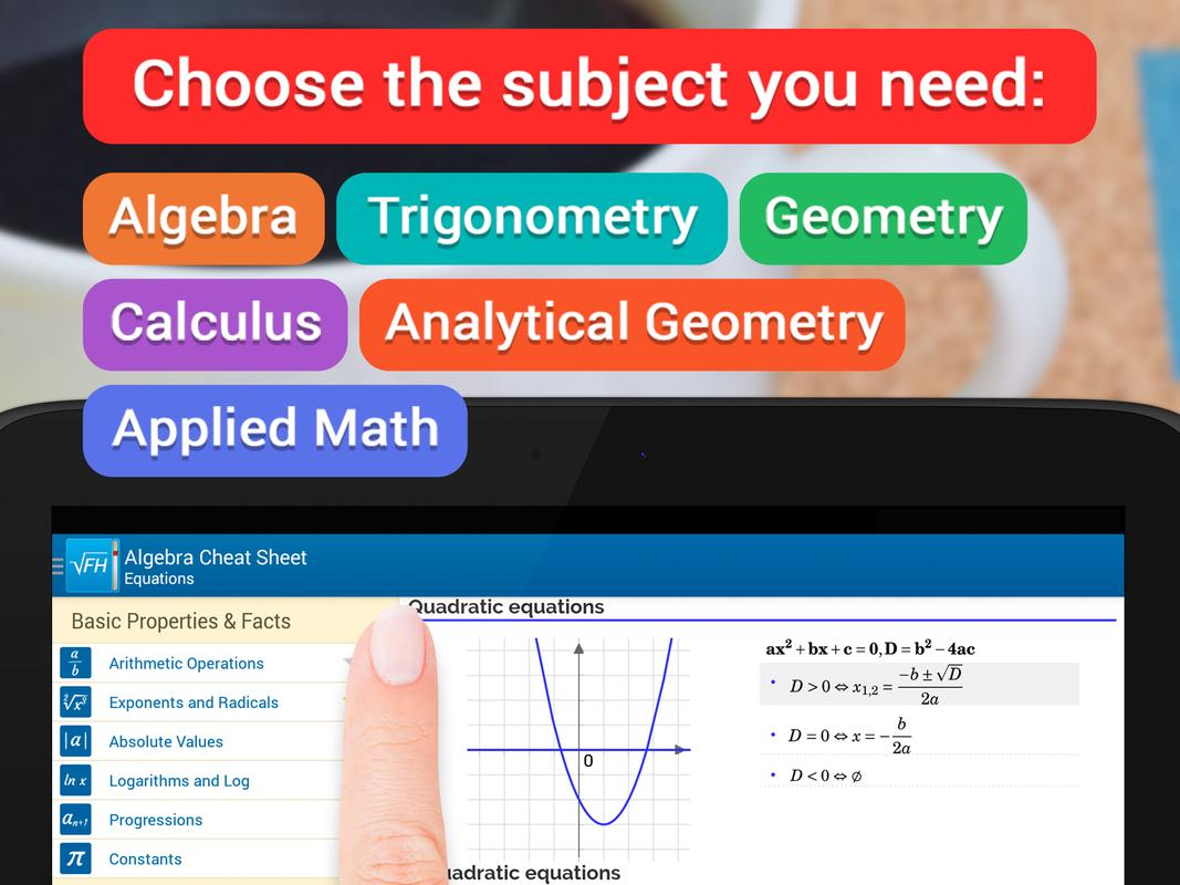 formulae helper math apk education app for formulae helper math apk screenshot