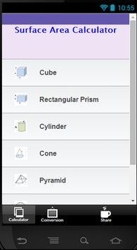 Surface Area Calculator apk screenshot