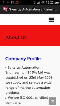Synergy Automation Engineering apk screenshot