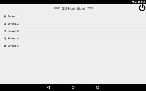 3D Furniture apk screenshot