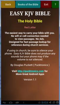 Easy KJV Bible poster