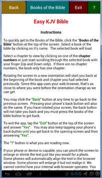 Easy KJV Bible apk screenshot