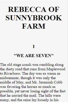 Rebecca Of Sunnybrook Farm apk screenshot