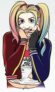 How To Draw Harley Quinn apk screenshot
