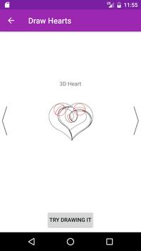 Draw Hearts Step By Step apk screenshot