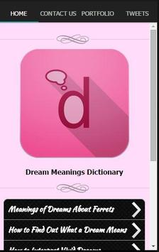 Dream Meanings Dictionary poster