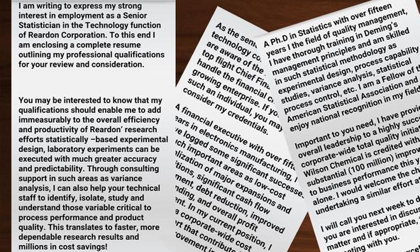 Cover Letter Idea Samples apk screenshot