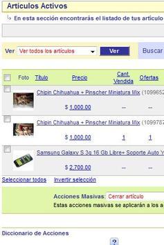 articulos activos mercadolibre apk screenshot