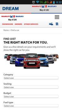 Dream Vehicles - Maruti Suzuki apk screenshot
