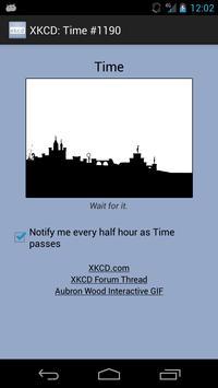 XKCD: Time #1190 Notifier apk screenshot