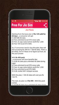 Free sim for jio apk screenshot