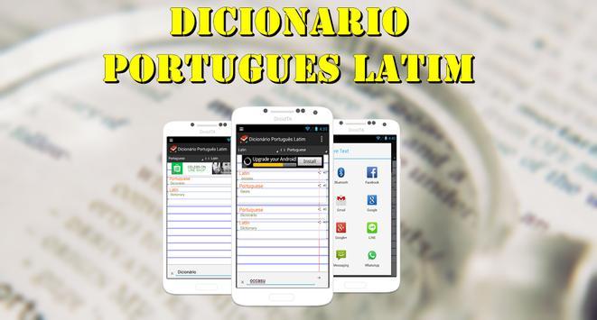 Dicionário Português Latim poster
