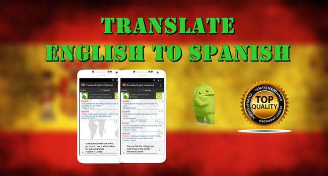 TRANSLATE ENGLISH TO SPANISH poster